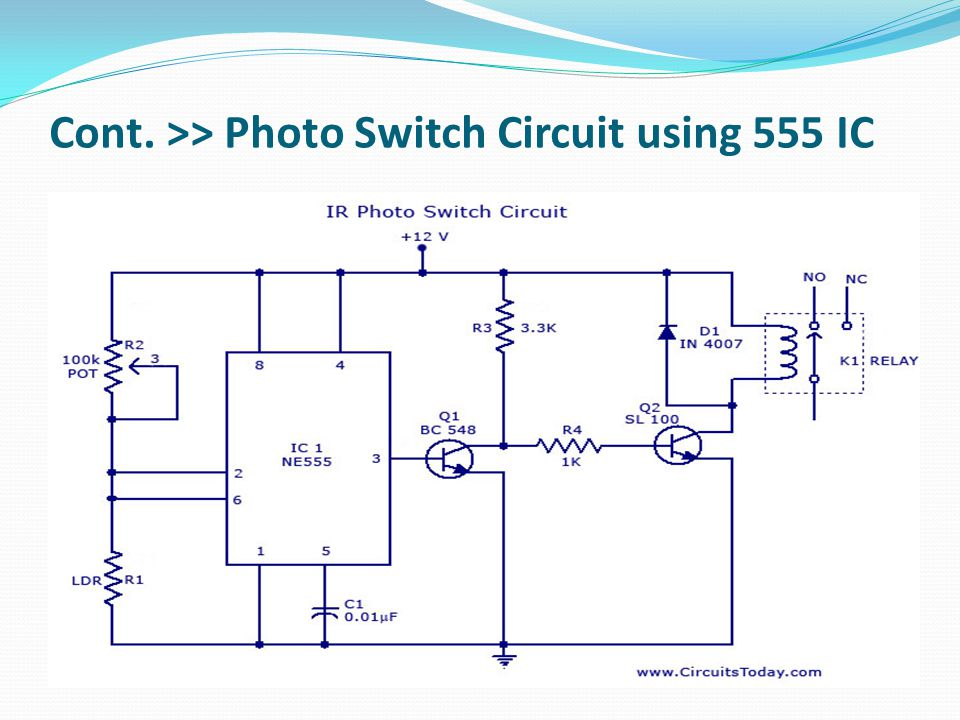 Cont. >> Photo Switch Circuit using 555 IC