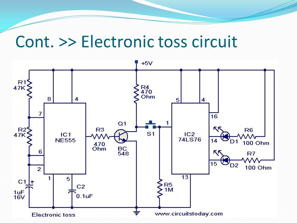 Cont. >> Electronic toss circuit