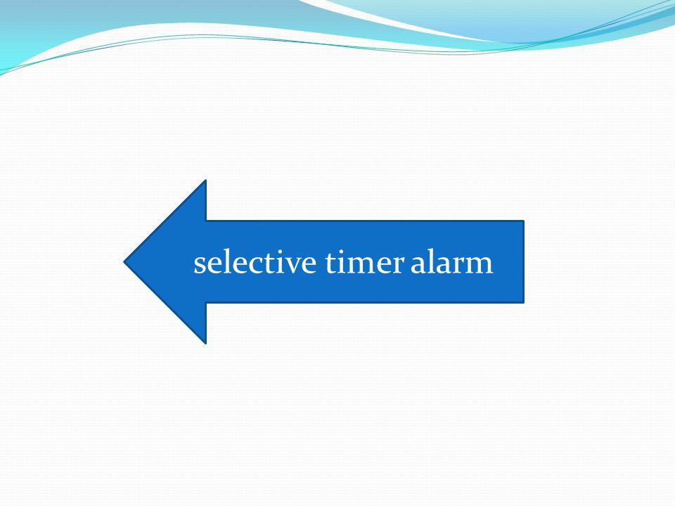 selective timer alarm