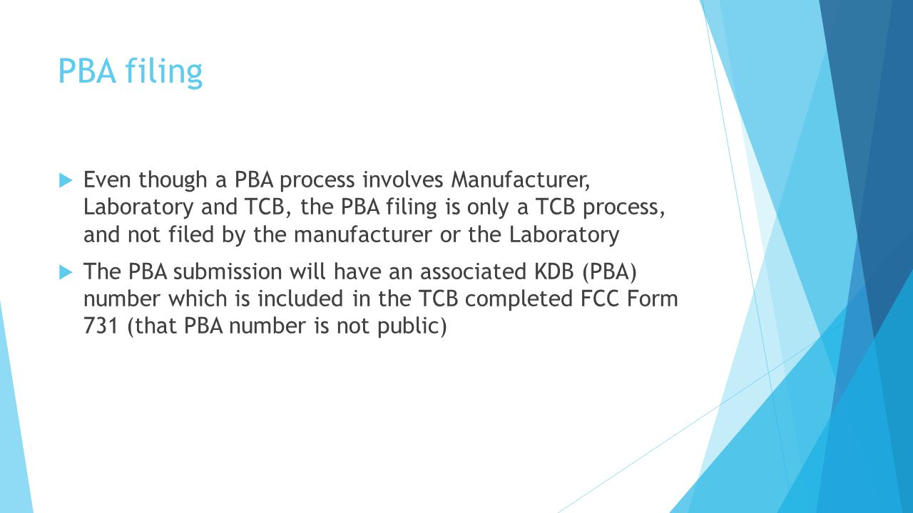 PBA filing