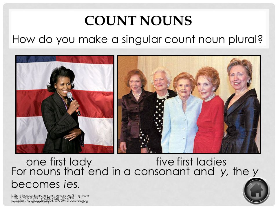Count Nouns How do you make a singular count noun plural