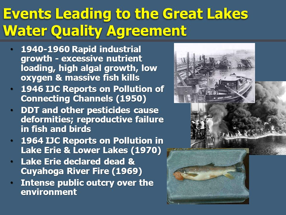 Events Leading to the Great Lakes Water Quality Agreement