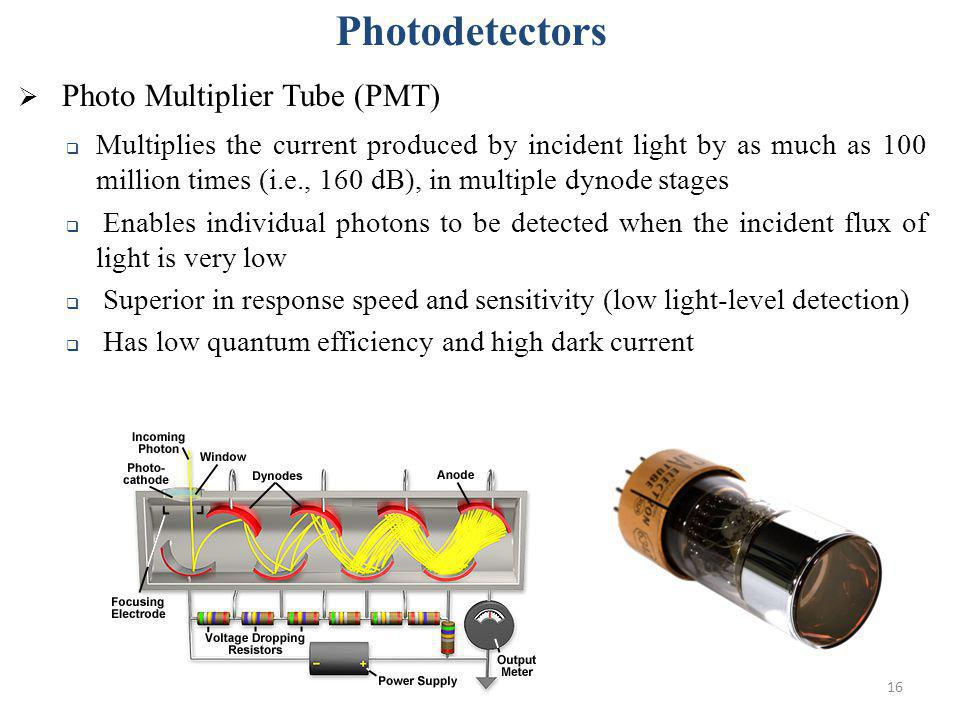 Photodetectors Photo Multiplier Tube (PMT)