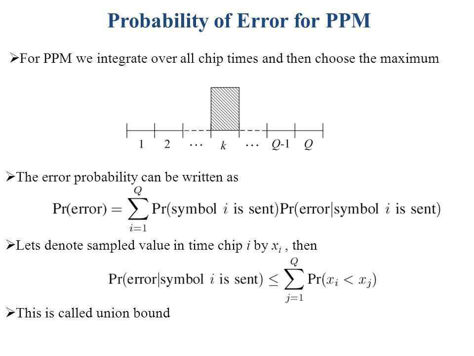 Probability of Error for PPM