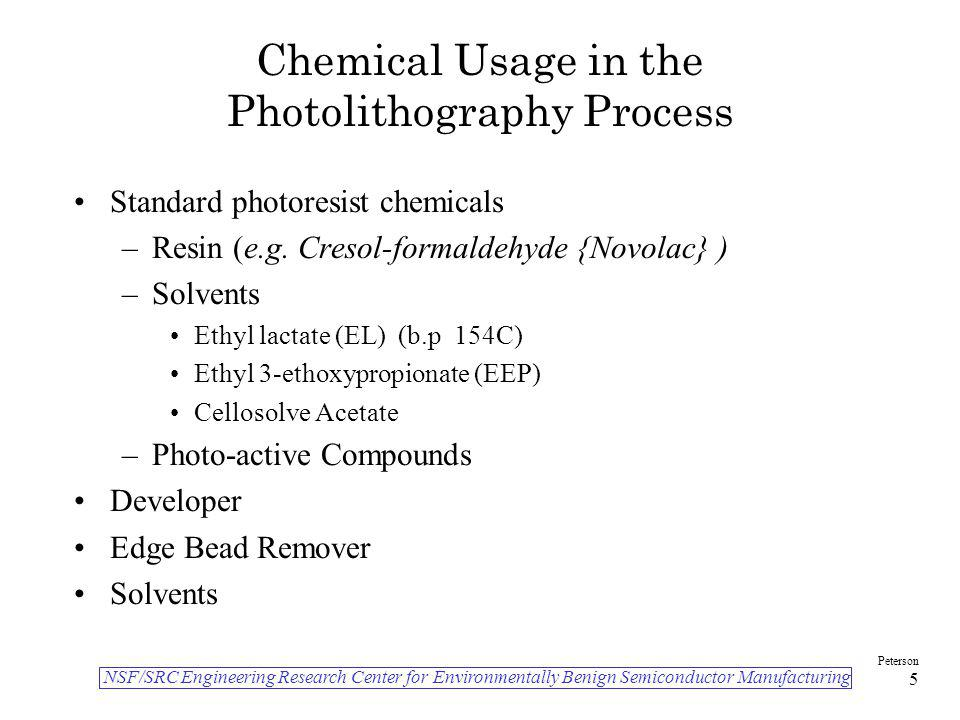 Chemical Usage in the Photolithography Process