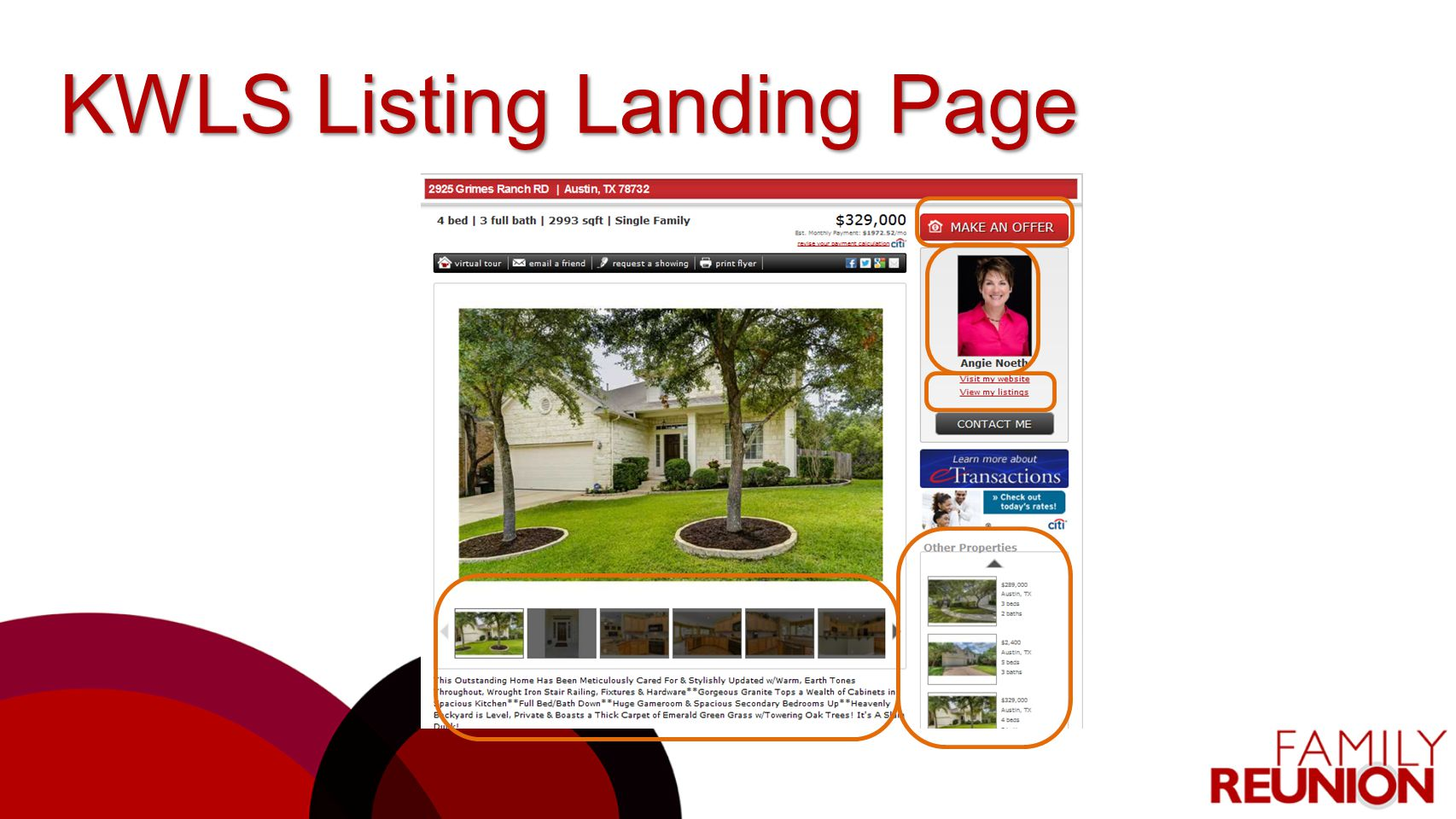 KWLS Listing Landing Page