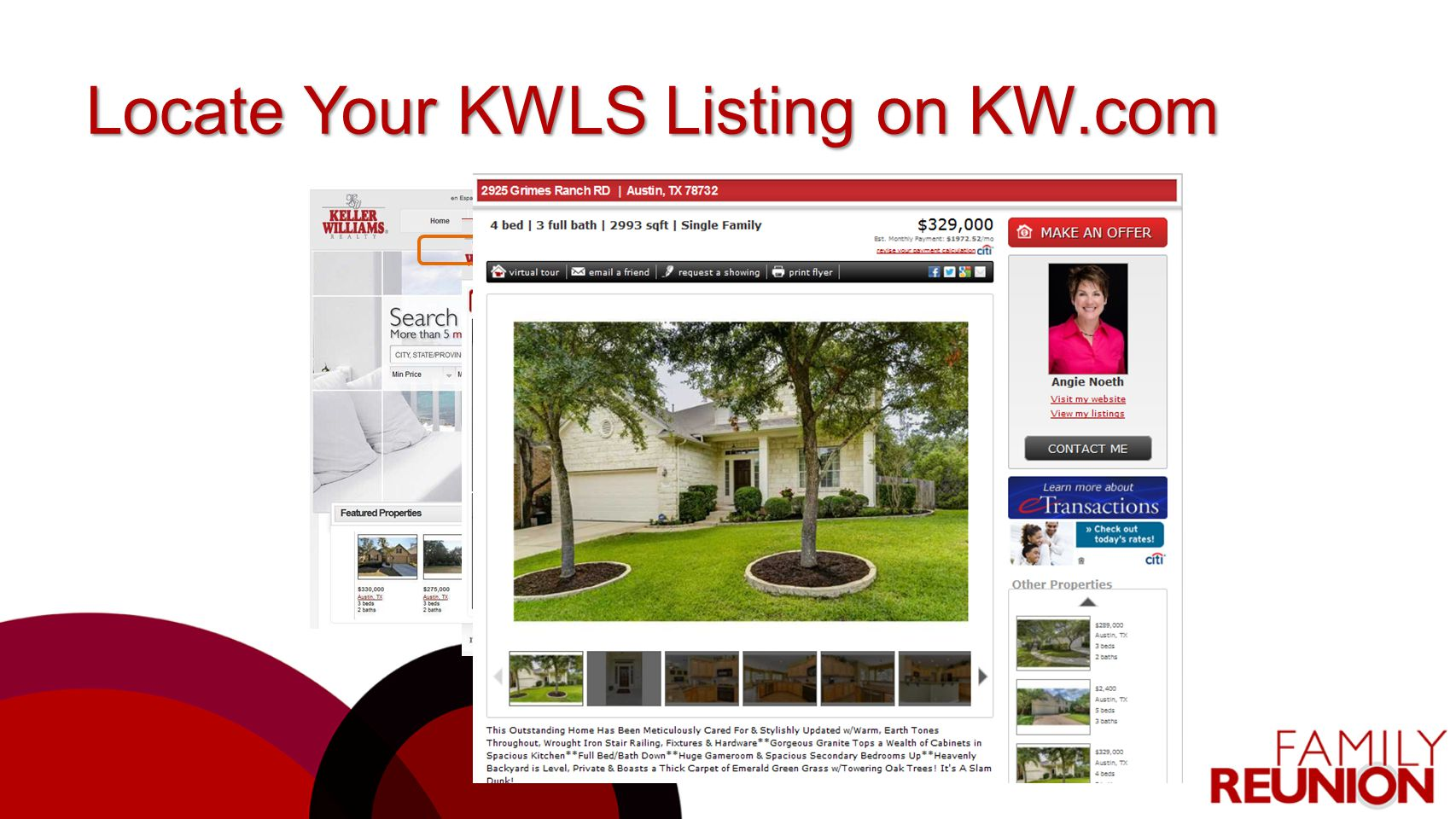 Locate Your KWLS Listing on KW.com