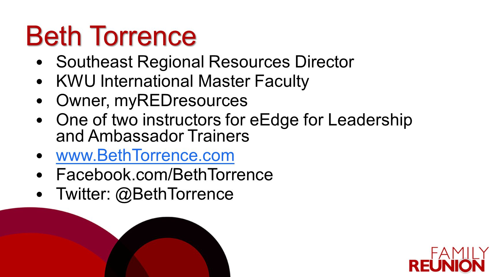 Beth Torrence Southeast Regional Resources Director