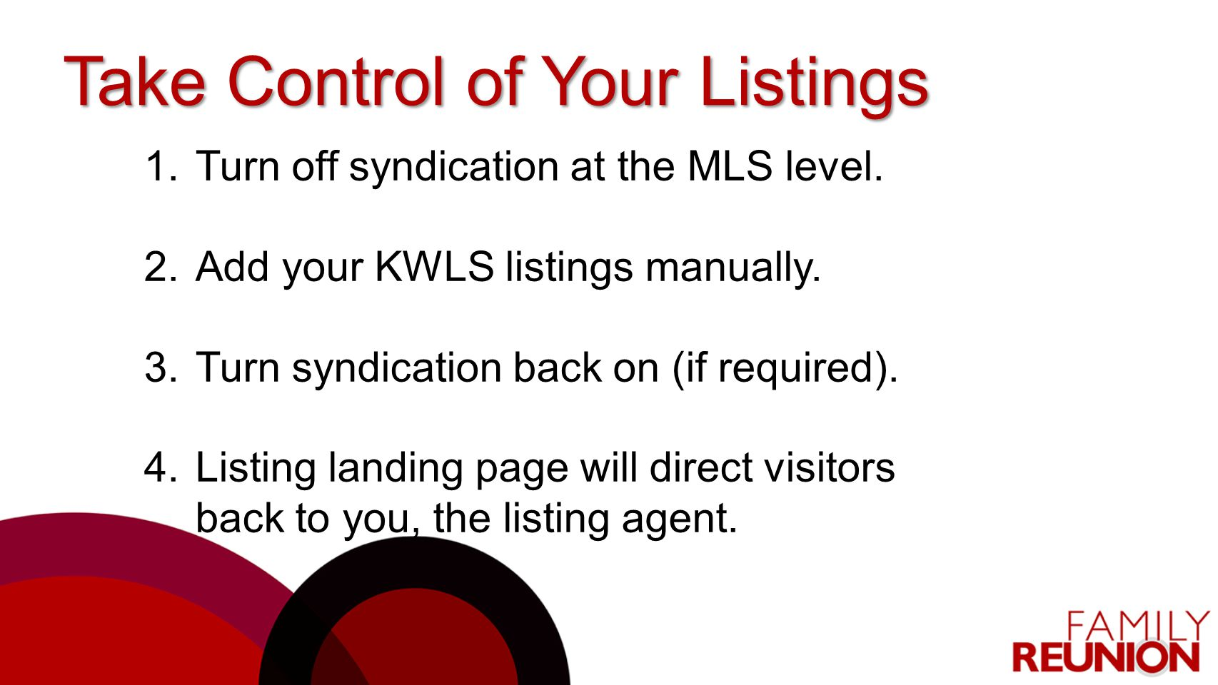 Take Control of Your Listings