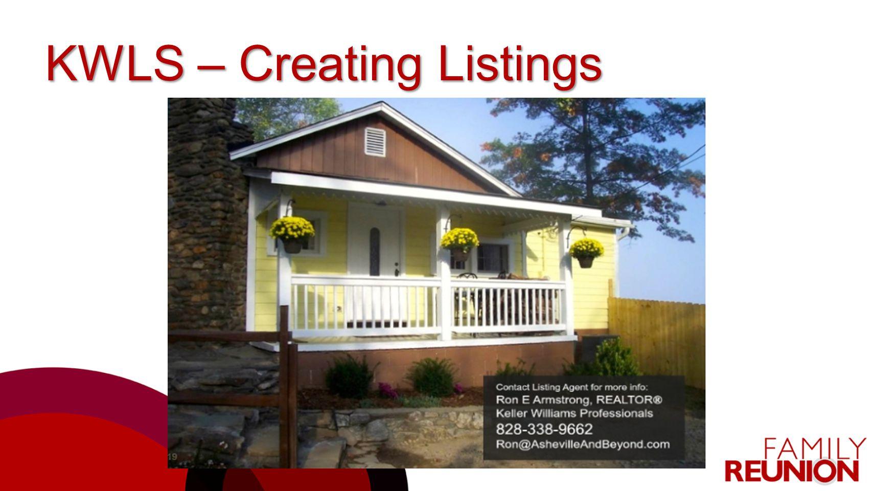 KWLS – Creating Listings