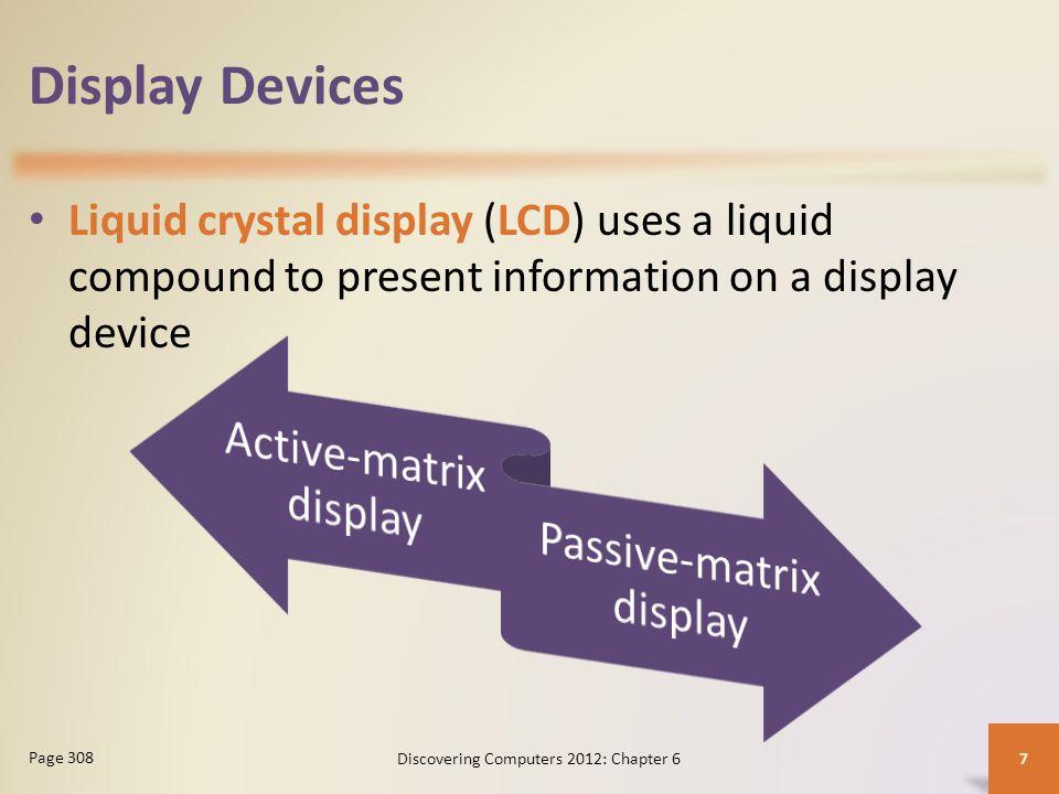 Display Devices Active-matrix display Passive-matrix display