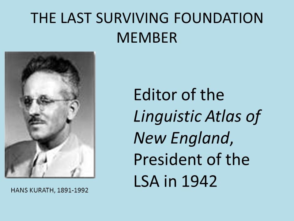THE LAST SURVIVING FOUNDATION MEMBER