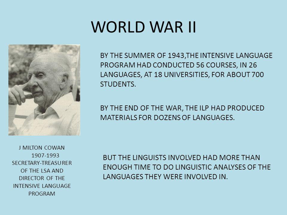 INTENSIVE LANGUAGE PROGRAM