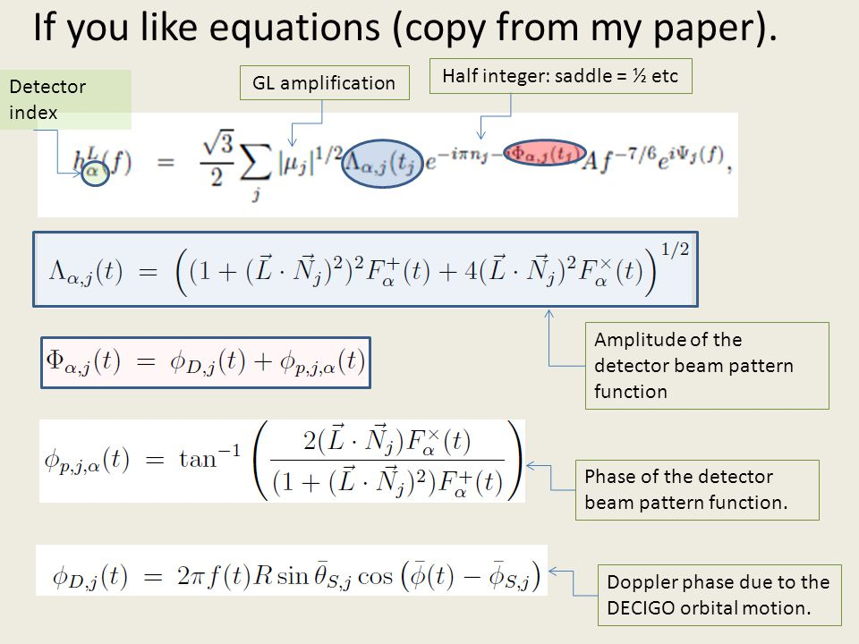 If you like equations (copy from my paper).