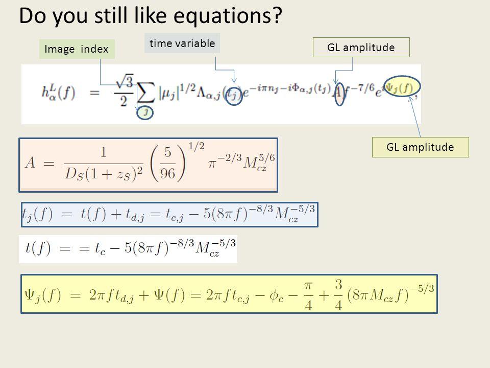 Do you still like equations