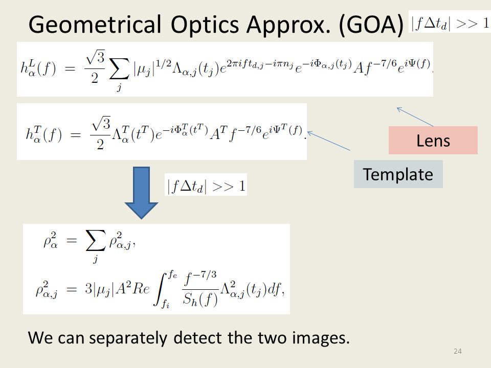 Geometrical Optics Approx. (GOA)