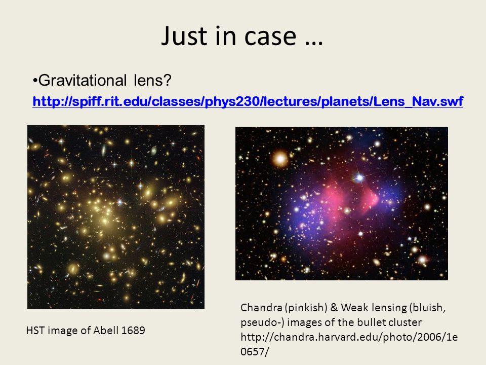 Just in case … Gravitational lens