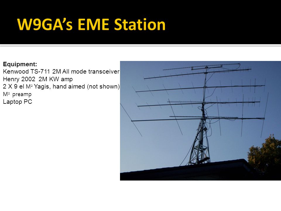 W9GA's EME Station Equipment: Kenwood TS-711 2M All mode transceiver