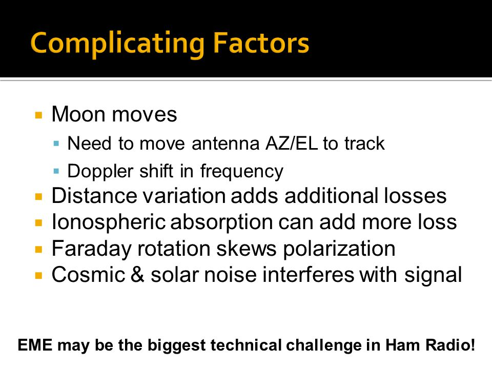 Complicating Factors Moon moves