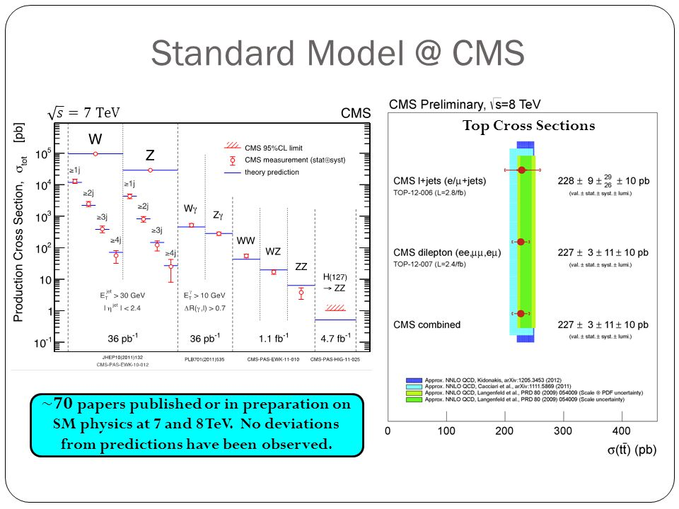 Standard Model @ CMS Top Cross Sections