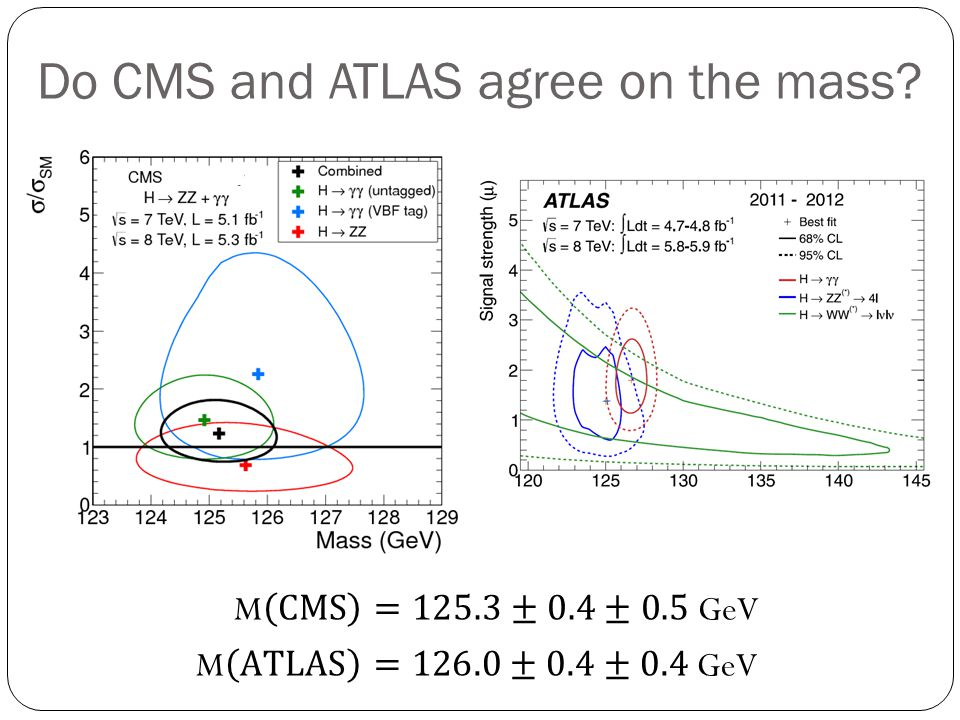 Do CMS and ATLAS agree on the mass