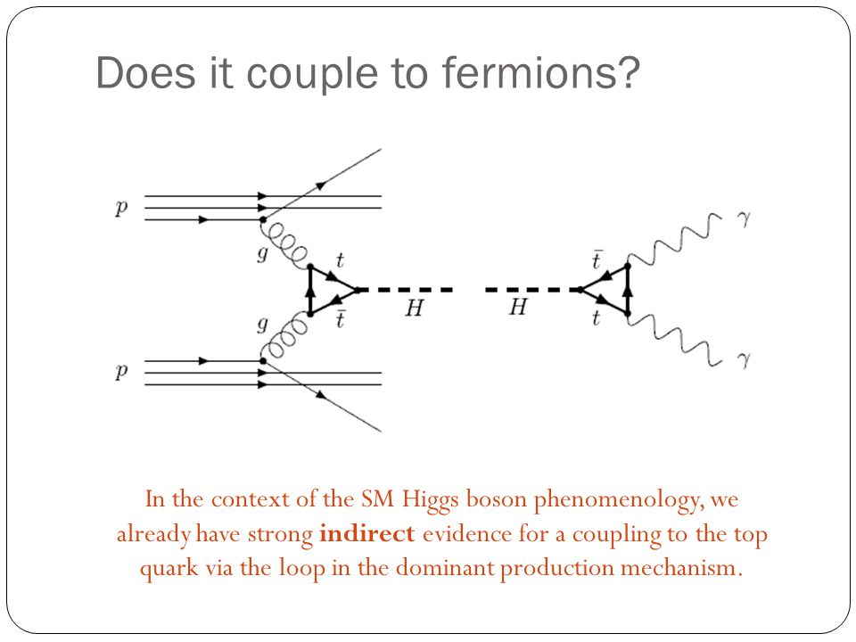 Does it couple to fermions