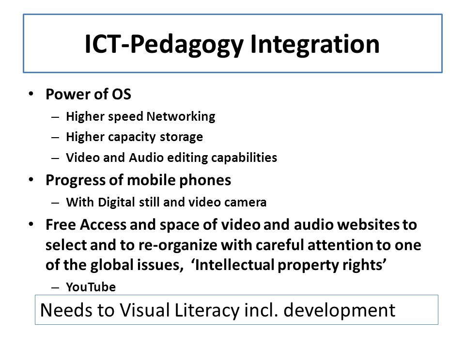 ICT-Pedagogy Integration
