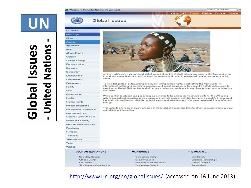 UN Global Issues - United Nations -