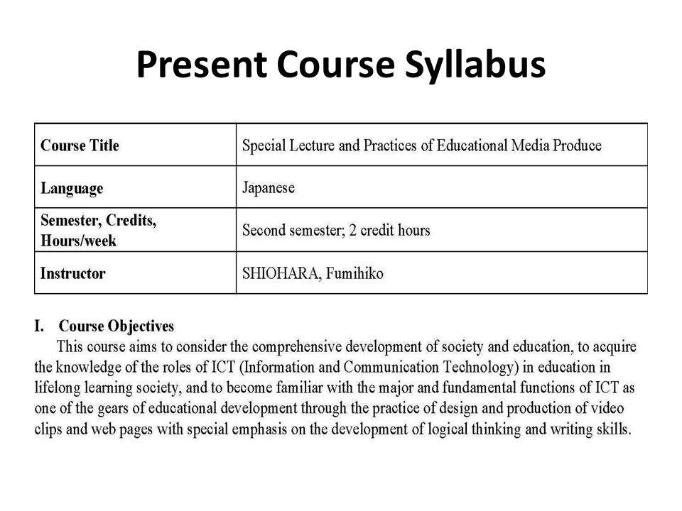 Present Course Syllabus