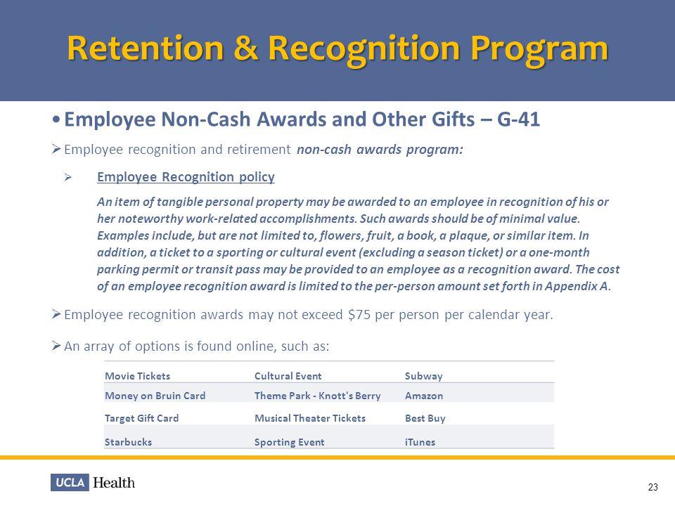 Retention & Recognition Program
