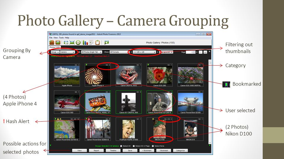 Photo Gallery – Camera Grouping