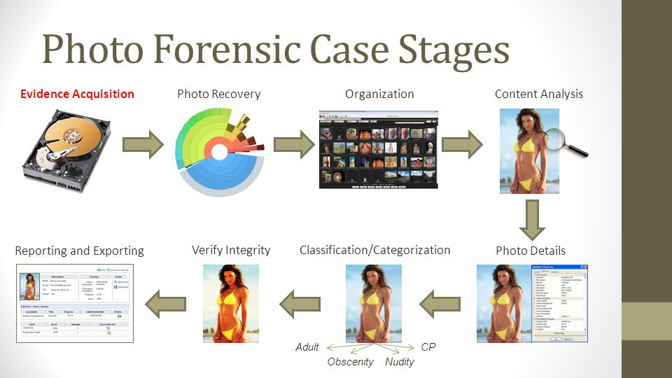 Photo Forensic Case Stages