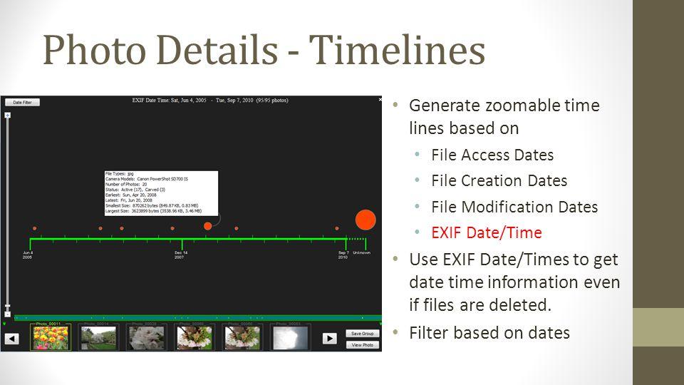 Photo Details - Timelines