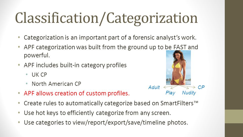 Classification/Categorization