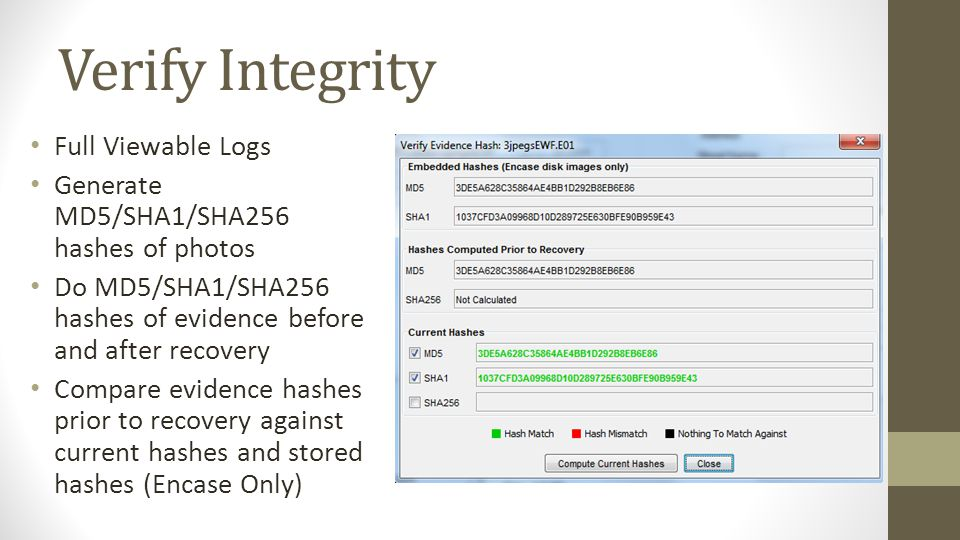 Verify Integrity Full Viewable Logs