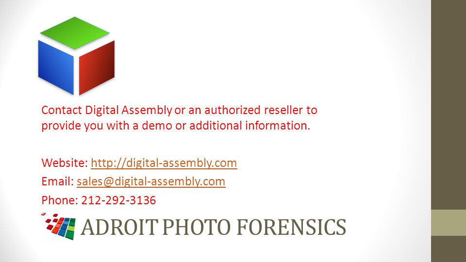 Adroit photo Forensics