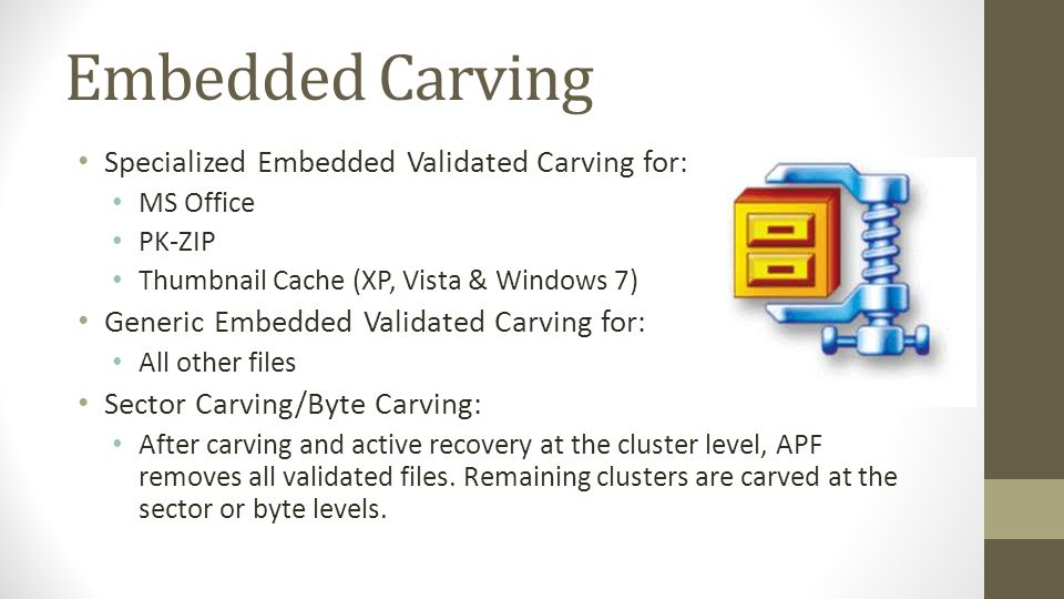 Embedded Carving Specialized Embedded Validated Carving for: