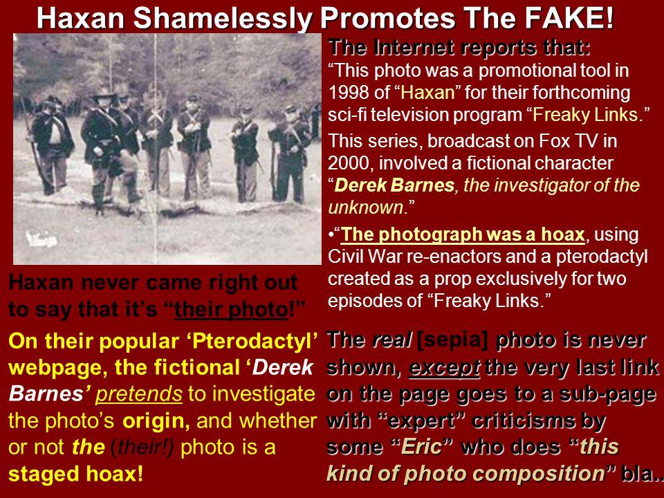 Haxan Shamelessly Promotes The FAKE!
