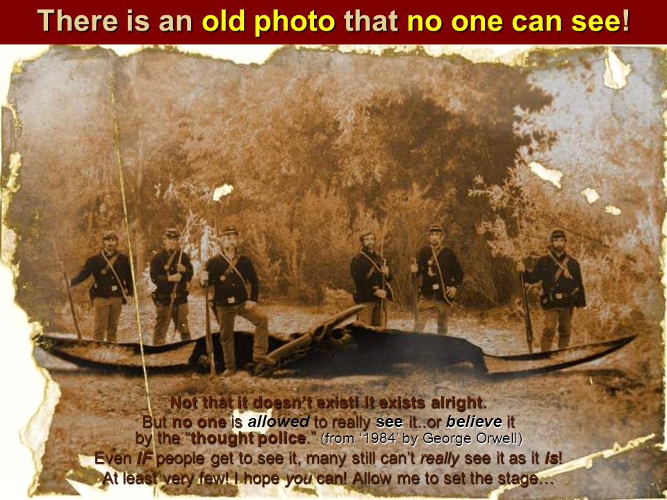 There is an old photo that no one can see!