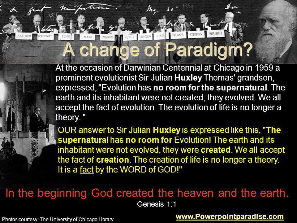 A change of Paradigm