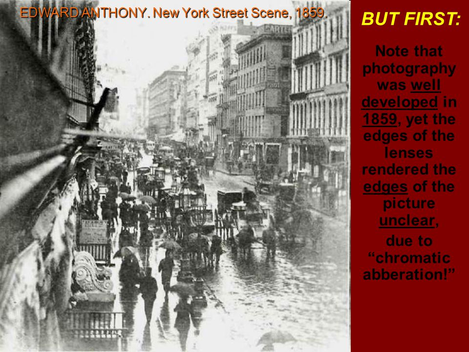 EDWARD ANTHONY. New York Street Scene, 1859.