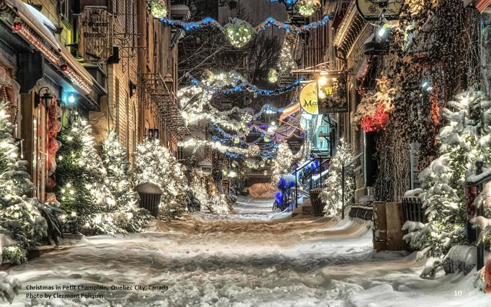 Christmas in Petit Champlain, Quebec City, Canada