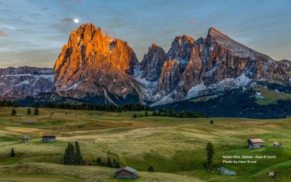 Seiser Alm, (Italian: Alpe di Siusi)