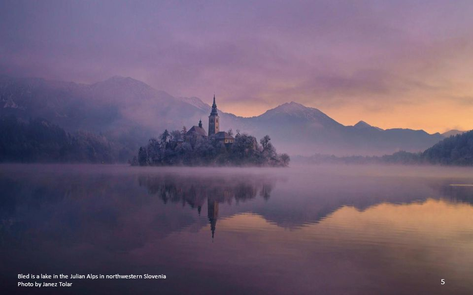 Bled is a lake in the Julian Alps in northwestern Slovenia