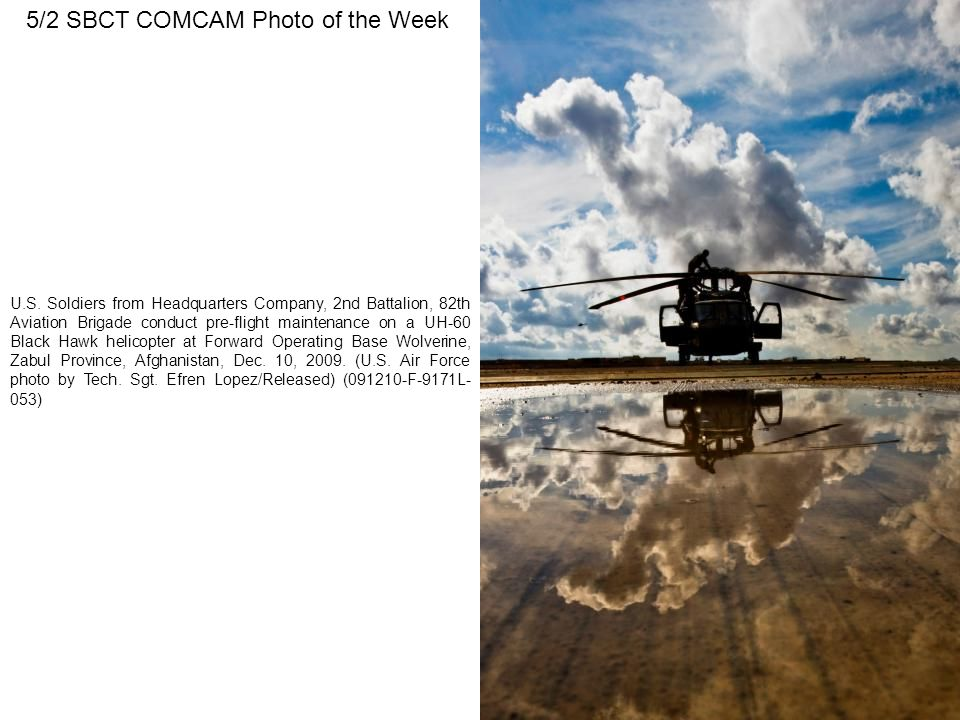 5/2 SBCT COMCAM Photo of the Week