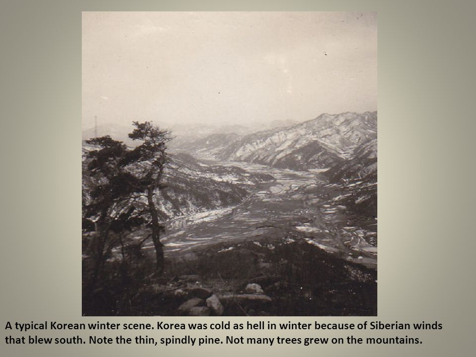 A typical Korean winter scene
