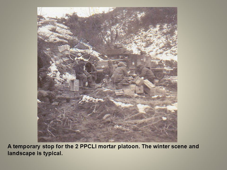 A temporary stop for the 2 PPCLI mortar platoon