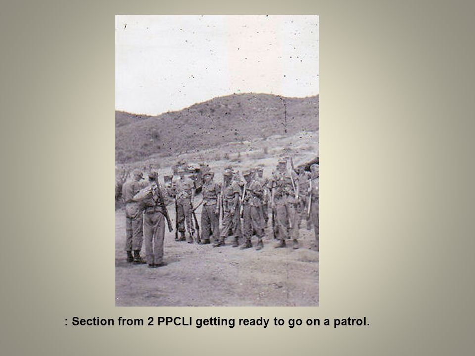 : Section from 2 PPCLI getting ready to go on a patrol.