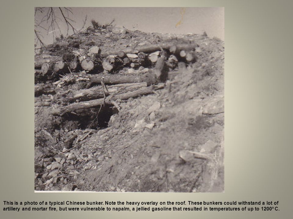 This is a photo of a typical Chinese bunker
