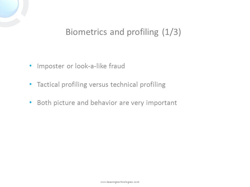 Biometrics and profiling (1/3)